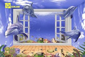 Oceanの光沢のある3D Ceramic Wall Tile