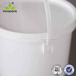 ふた水バケツの習慣によって塗られるバケツが付いている2.5L楕円形のプラスチックバケツ