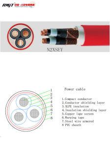 0.6/1kv Wiire Aço Isolados em XLPE cabo de alimentação blindados
