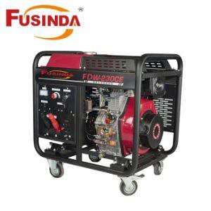 5kw soudeur de type silencieux de la Machine à démarrage électrique Groupe électrogène Diesel avec poignée et la roue