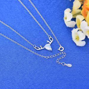 Monili d'imitazione semplici della collana del Moonstone dell'argento sterlina