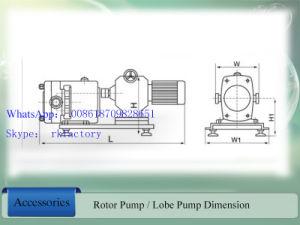 Gesundheitliche 2  Rotary Lobe Pump für Hohes-Viscosity Liquid