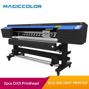 1,90m de la impresora solvente ecológica de gran formato con 2pcs dx5 el cabezal de impresión