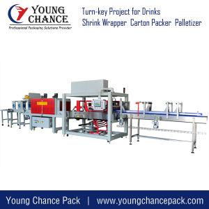 Alta Velocidade do tipo linear calor filme retráctil sobre a finalização da máquina de embalagem para bebidas e bebidas garrafa de água de latas para produtos alimentares