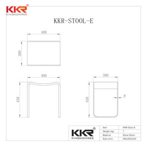 Kkr Meubles de salle de bains avec douche en pierre acrylique Surface solide selles (190415)
