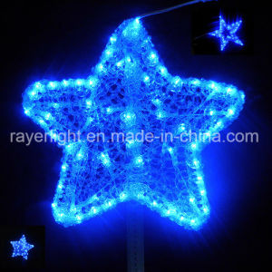 LED 크리스마스 장식적인 빛이 옥외 큰 LED 별 주제에 의하여 점화한다