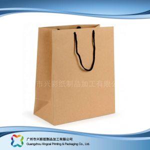 Sacchetto dell'alimento stampato abitudine della carta kraft del Brown/Imballaggio di acquisto (xc-bgk-018)