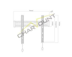용수철 자물쇠 (CT-PLB-1222)를 가진 경제적인 텔레비젼 벽 마운트 부류