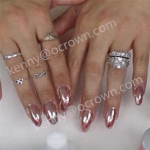 Роуз Gold хромированные зеркала заднего вида Pearl пигмент лак для ногтей гелем польский