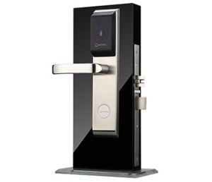 Alta Segurança Inteligente orbita fechadura da porta do Hotel eletrônico com pega de aço inoxidável