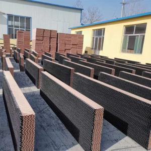 Papel de madeira 100% almofada de resfriamento evaporativo/Celluloseair/Água/Honeycomb/cortina almofada de resfriamento molhada para Greenhous/aves de capoeira/suínos Fazenda/Arrefecedor de Ar