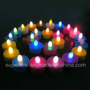 Batteriebetriebenes Weihnachtsdekorativer Himmelskörper-Pfosten LED künstliches flammenloses Tealights