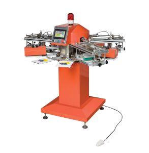 Hoge snelheid Tagless/Etiket/Niet-geweven/Stof/Embleem/de Mini Kleine Machine van de Druk van het Scherm