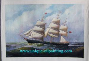 Olieverfschilderij, het Olieverfschilderij van het Zeegezicht, de Olieverfschilderijen van de Boot (V.N.-BOAT2923)