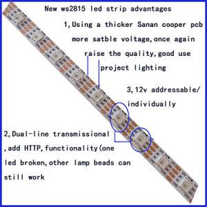 Indicatore luminoso di striscia sequenziale RGB di rottura di Ws2815 12V 5050 del riassunto indirizzabile specifico LED del punto