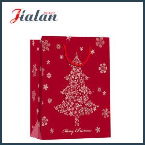 광택지 Feliz Navidad 크리스마스 패킹 선물 종이 봉지를 주문을 받아서 만드십시오