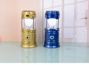 La vente directe d'usine a conduit la lumière solaire solaire lanterne de Camping&Lampe de camping