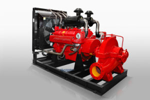 Случае Splite пожарный насос,дизельного двигателя в горизонтальном положении центробежный пожарный насос,центробежного насоса,500 галл 1000 галлонов в 1500 галл 2000gpm 10 бар,Double пожарного насоса всасывающий пожарный насос