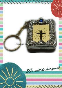 Zeer belangrijke Ketting Mini Heilige Bijbel Gevormde Keychains in het groot-Engelsen