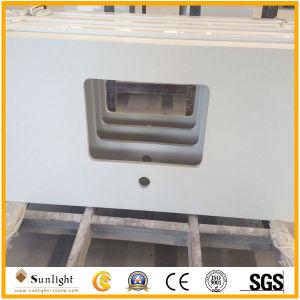 Bianco prefabbricato/colore giallo/disegni cucina di Giallo con controsoffitti di marmo/del granito (G664, G439, G655, G682)