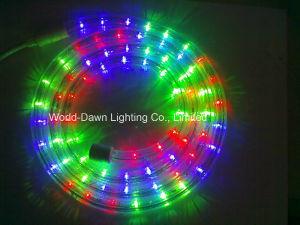 110V 220V RGB 4ワイヤー円形LEDすくいロープライト