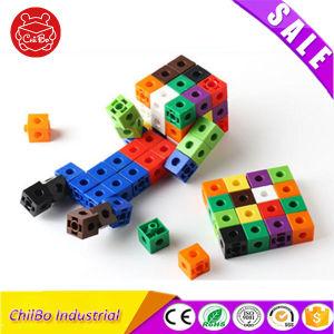 Puzzle educativos de plástico Cubos de vinculação de brinquedo para mais de 3 anos