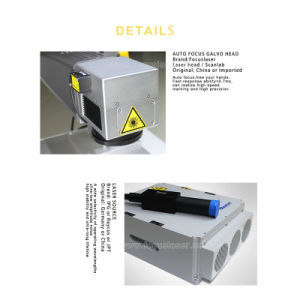 2018 20W 100X100mmの宝石類のファイバーのレーザープリンターによる印刷機械