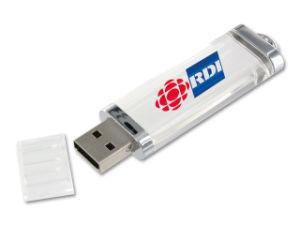Unidad flash USB de plástico transparente