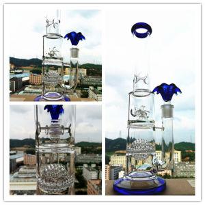 Sueño Azul el tazón de vidrio en forma de panal de la Flor de Agua Viento de agua de la rueda del tubo de vidrio Pipeswater plataforma petrolífera de Hitman Vaso de Agua S