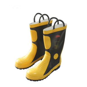 Bomberos de tobillo alto Botas de seguridad para la lucha contra incendios 85d3ab6b5359d