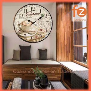Caliente la venta de varios estilos innovadores comercio al por mayor Reloj de pared Pared Vintage Antiguo reloj redondo de madera para la decoración del hogar016107-59 Fz.