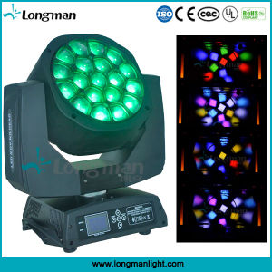 19*15W RGBW DJ haz de luz LED Etapa discoteca moviendo la cabeza