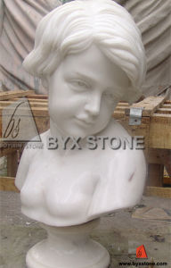 White Marble Baby Angel Head Buste Sculpture / Statue