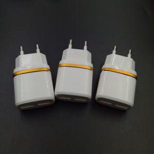 2018 Nuevo llegan blanco de 2 pines redondos UE teléfono móvil estándar USB cargador USB