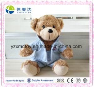 El oso de encargo del peluche del animal relleno embroma los juguetes suaves de la felpa de los niños