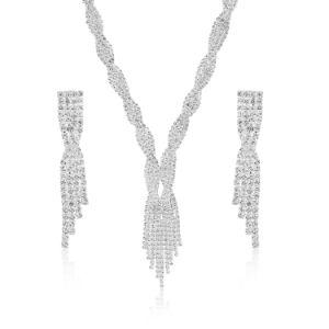 立方ジルコニアの花嫁の方法宝石類セット
