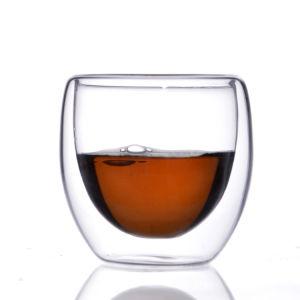 Tazza di vetro doppia superiore di Relea con tè