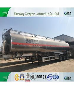 3 반 차축 45cbm 기름 판매를 위한 디젤 엔진 수송 트레일러