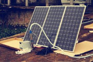 Gran Energía solar el agua del estanque de la bomba de 750 vatios