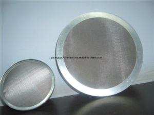 Corrosion-Resistant, 304 pano de fio de aço inoxidável, discos de tela filtrante, 3/4 de diâmetro, Embalagem de 25, . 016 Diâmetro de fio, 20X20 acoplada