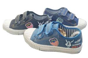 Inyección de la comodidad de los niños Zapatos de lona con Magic Tape calzado zapatillas (HH18513-2)