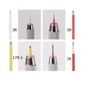 衛生使い捨て可能なMicrobladingの入れ墨の刃の化粧品のための円形の眉毛の入れ墨の針