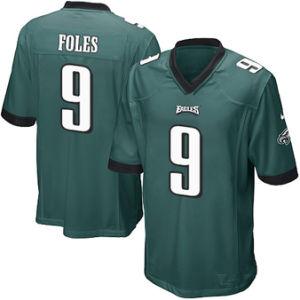 남자 여자 젊음 필라델피아 Jerseys 9개의 Nick Foles 축구 Jerseys