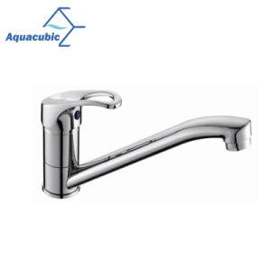 3つの穴の浴室の真鍮の洗面器の単一のハンドルのコック(AF6802-6)
