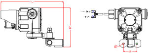 경보 IR+UV 폭발 방지 프레임 검출기 열 검출기