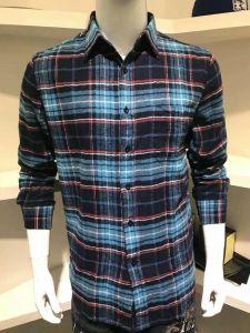 Alta qualità e camicia di plaid lunga molle del manicotto per l'uomo