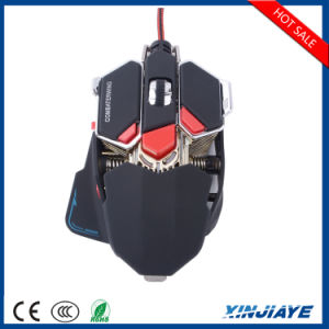 10 Breathing LED를 가진 단추 4800 Dpi Adjustable USB Wired Gaming Optical Mouse