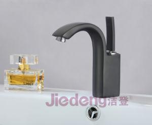 高品質の黒いカラーの真鍮の単一のレバーの浴室の洗面器のコック(B63黒い)