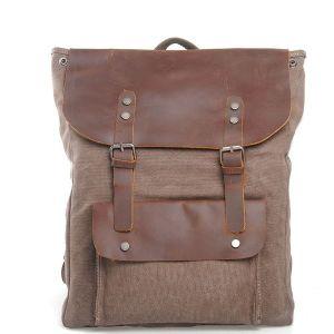 Кожаный полного заполнения зернового бункера дамской сумочке Двойные бретели плечо ноутбук Canvas рюкзак сумка (RS-2166)