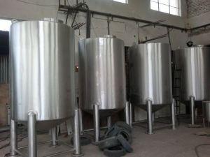 水平のステンレス鋼単層水貯蔵タンク